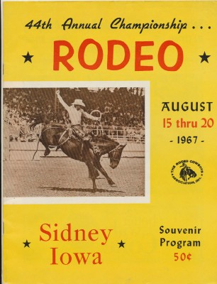 1967 Sidney IA Rodeo Program-Fess Parker Sons Of The Pioneers +